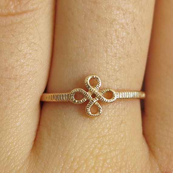 0ea35109c992a Gold filled ring, flower ring, flower gold ring, tiny gold ring ...