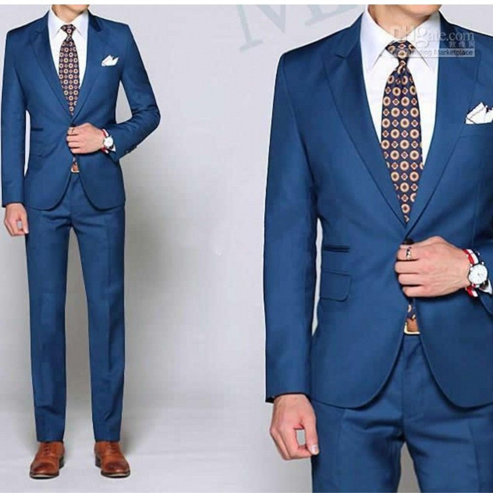 Free Shipping] Buy Best Free shipping Royal Blue Tie Suit Western ...