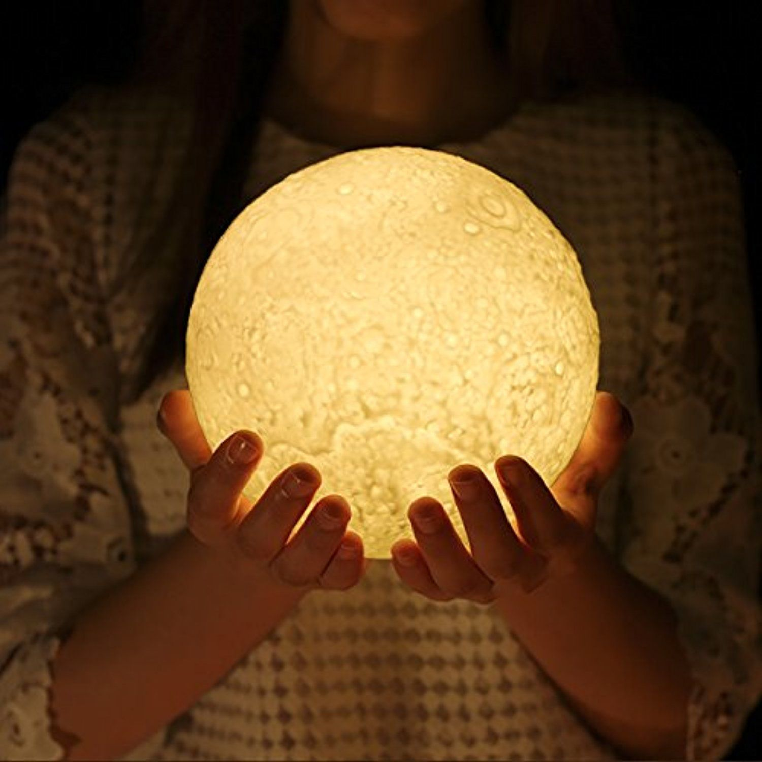 Control Night Dimmable Light 3d Touch Printed Moon LampProgreen PZOlwiukXT