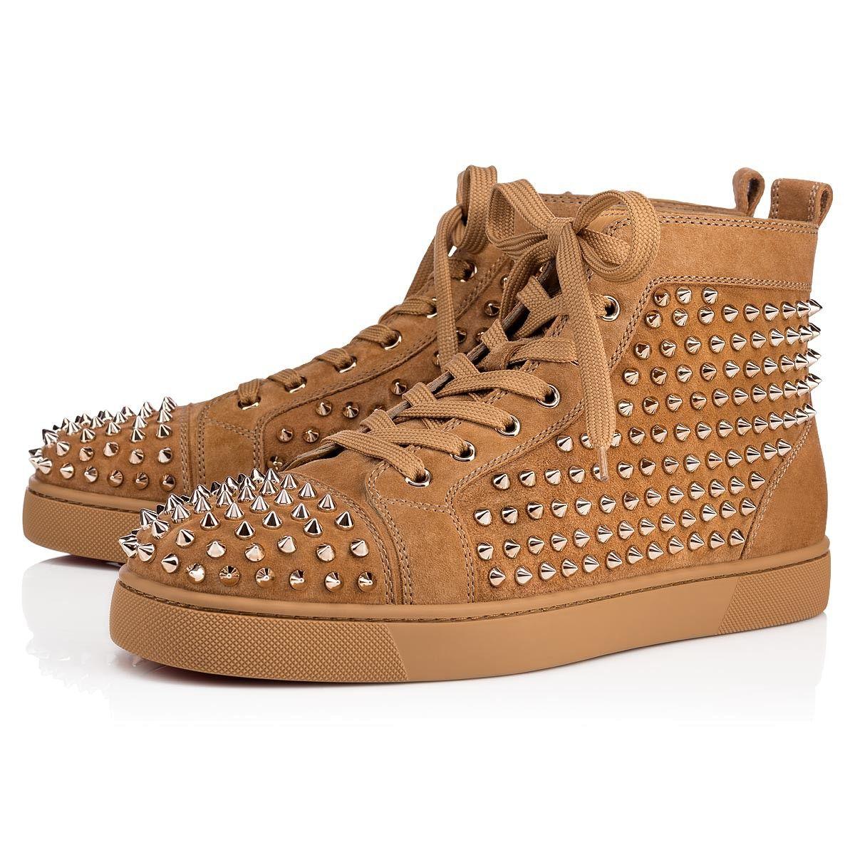 19efb3549c CHRISTIAN LOUBOUTIN Louis Veau Velours spikes.  christianlouboutin  shoes