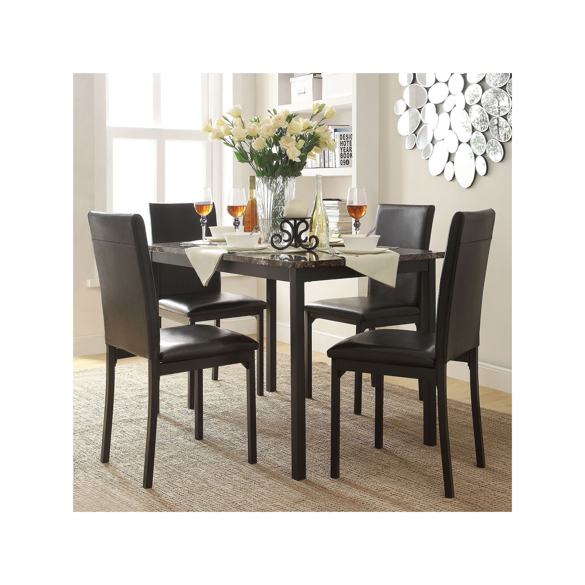 HomeVance Catania 5 piece Dining Table and Chair