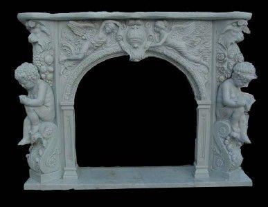 antique marble cherub mantle home heaven antiques cherub mantle rh pinterest com