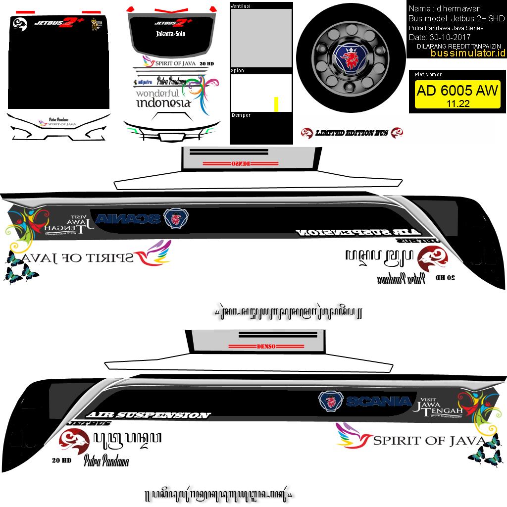 Download Livery Bus Simulator P O Putra Pandawa My D Hermawan Konsep Mobil Mobil Futuristik Mobil Modifikasi