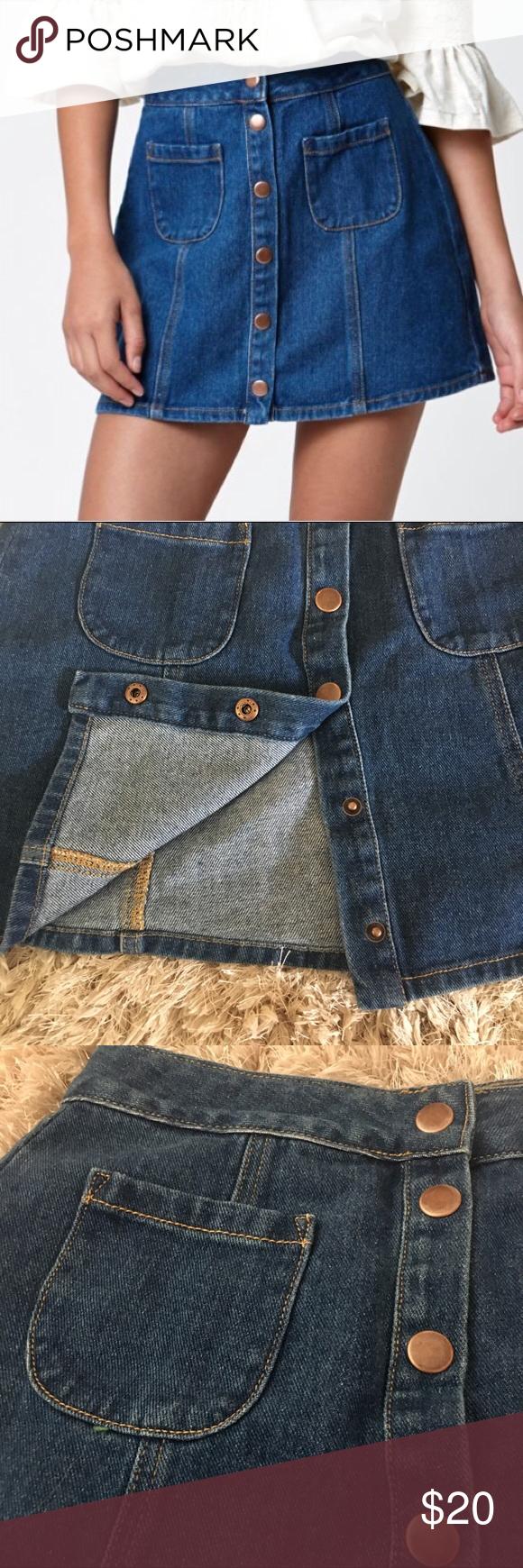 1d1d04368e Brandy Melville Denim Mini Size 27 Brandi Melville denim mini in size 27.  Cute skirt