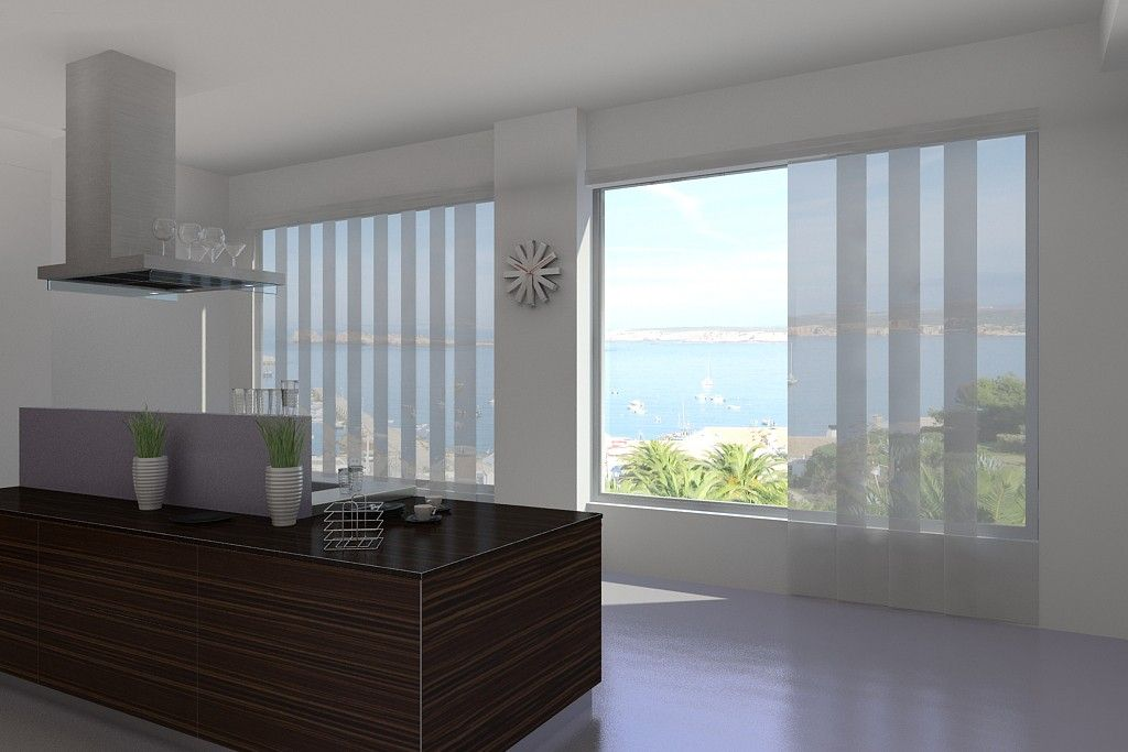 Panel Track Blinds - Window Treatments For Sliding Glass ...
