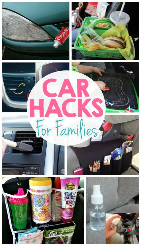Brilliant Car Hacks For Families - I Heart Arts n Crafts