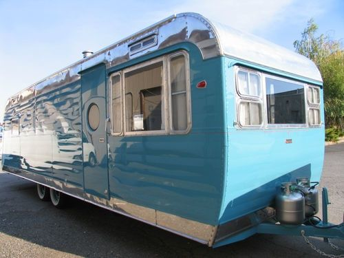 Red Vintage Travel Trailer