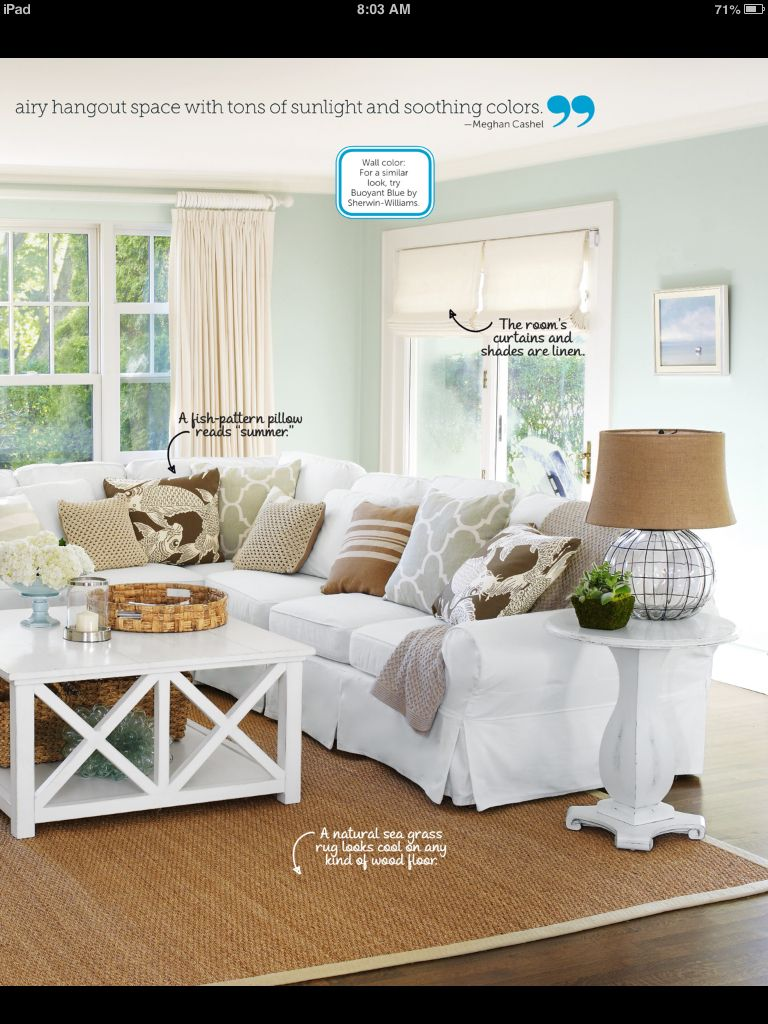 white couch white coffee table beach chic design home living rh pinterest com