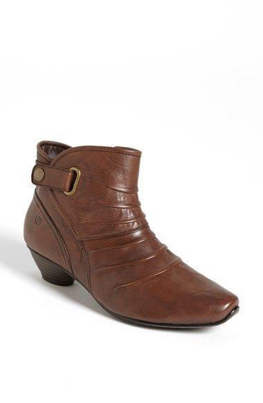 """Free shipping and returns on Josef Seibel 'Tina 02"""" Bootie at Nordstrom.com. Tonal topstitching traces the clean contours of an elegant little bootie fashioned with deft pleats and a modest stacked heel."""