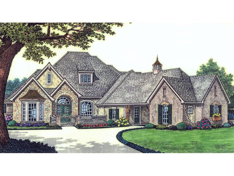 Luxury ranch home with great european style chandra for Traditional ranch homes