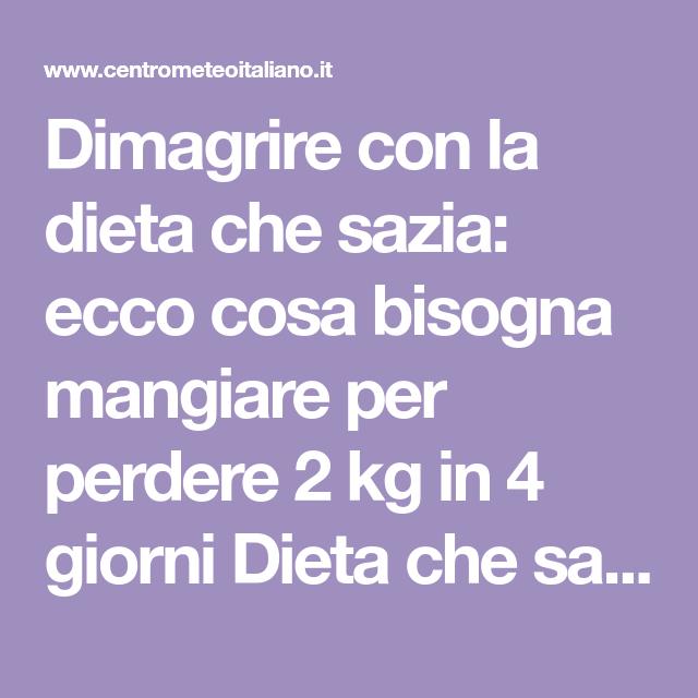 perdere 2 kg a settimana dieta