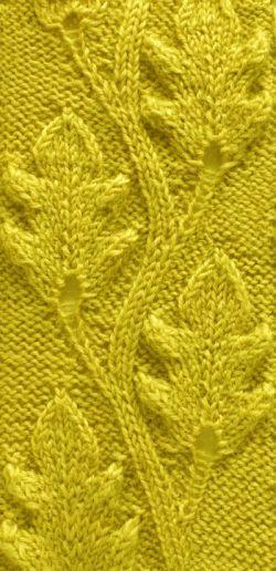 Eichenblätter   flowers   Pinterest   Stricken, Strickmuster und Häkeln