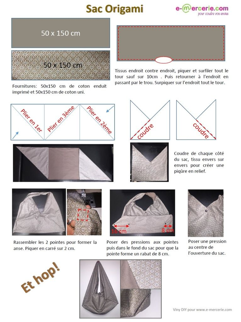 tuto trousse origami
