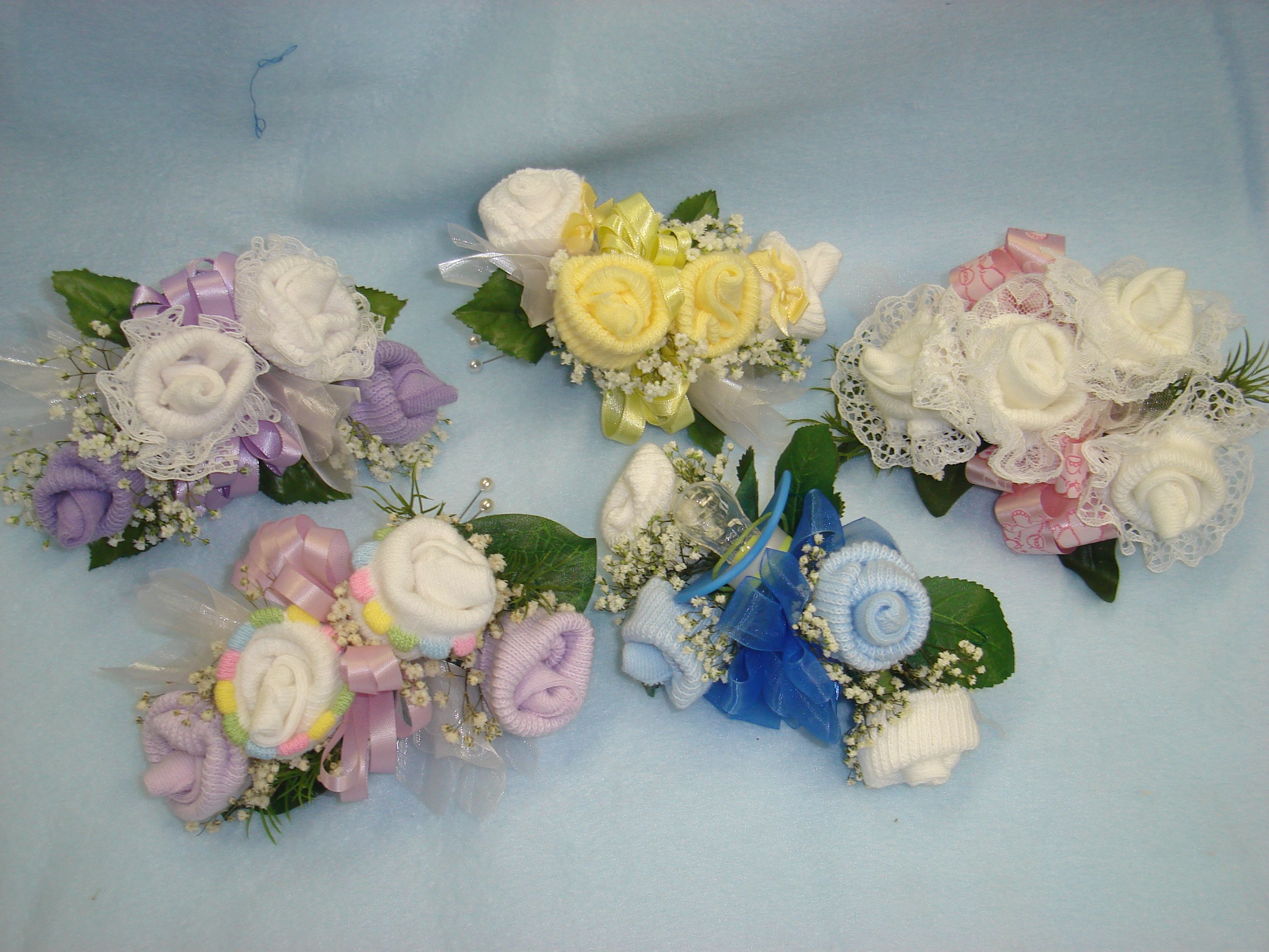 Baby Shower Sock Corsage Can Be A Wrist Or A Pin On Add A