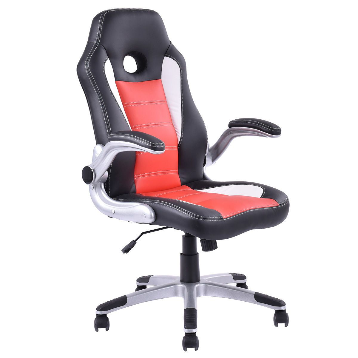 Executive PU Leather Racing Style Bucket Seat Office Chair