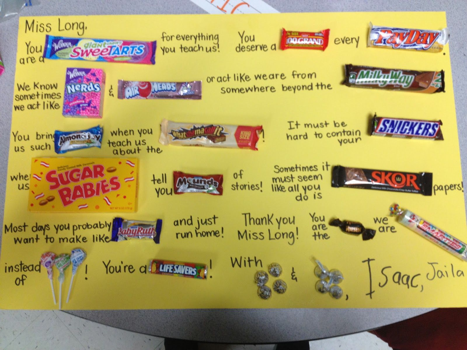 Candy bar posters teacher appreciation candy poster