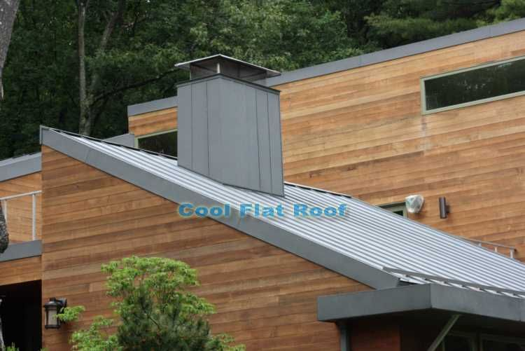Zinc Metal Roof In Wellesley Ma Zinc Roof Flat Roof Roof