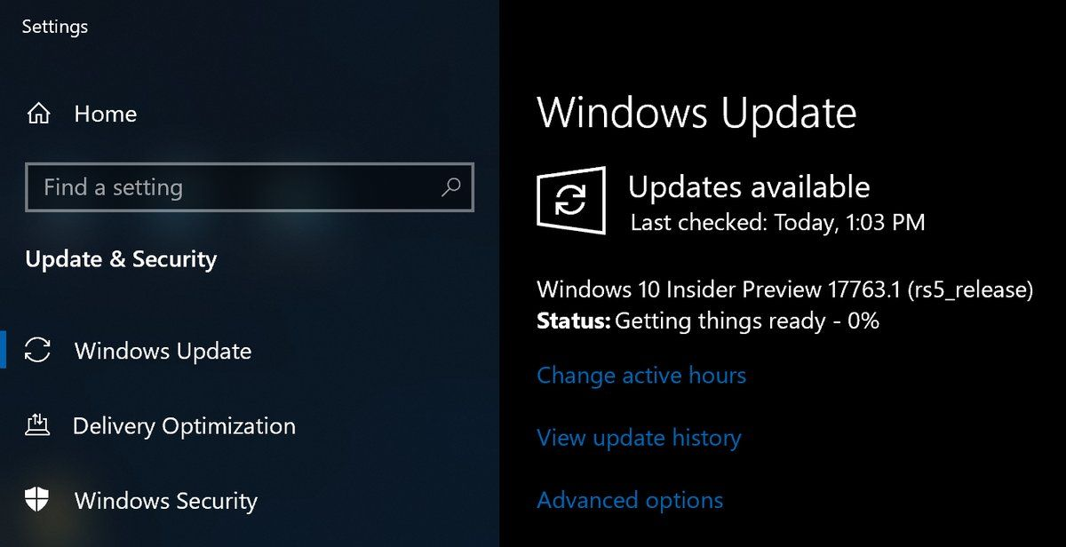 Microsoft Released Windows 10 Preview Build 17763.1 (rs5