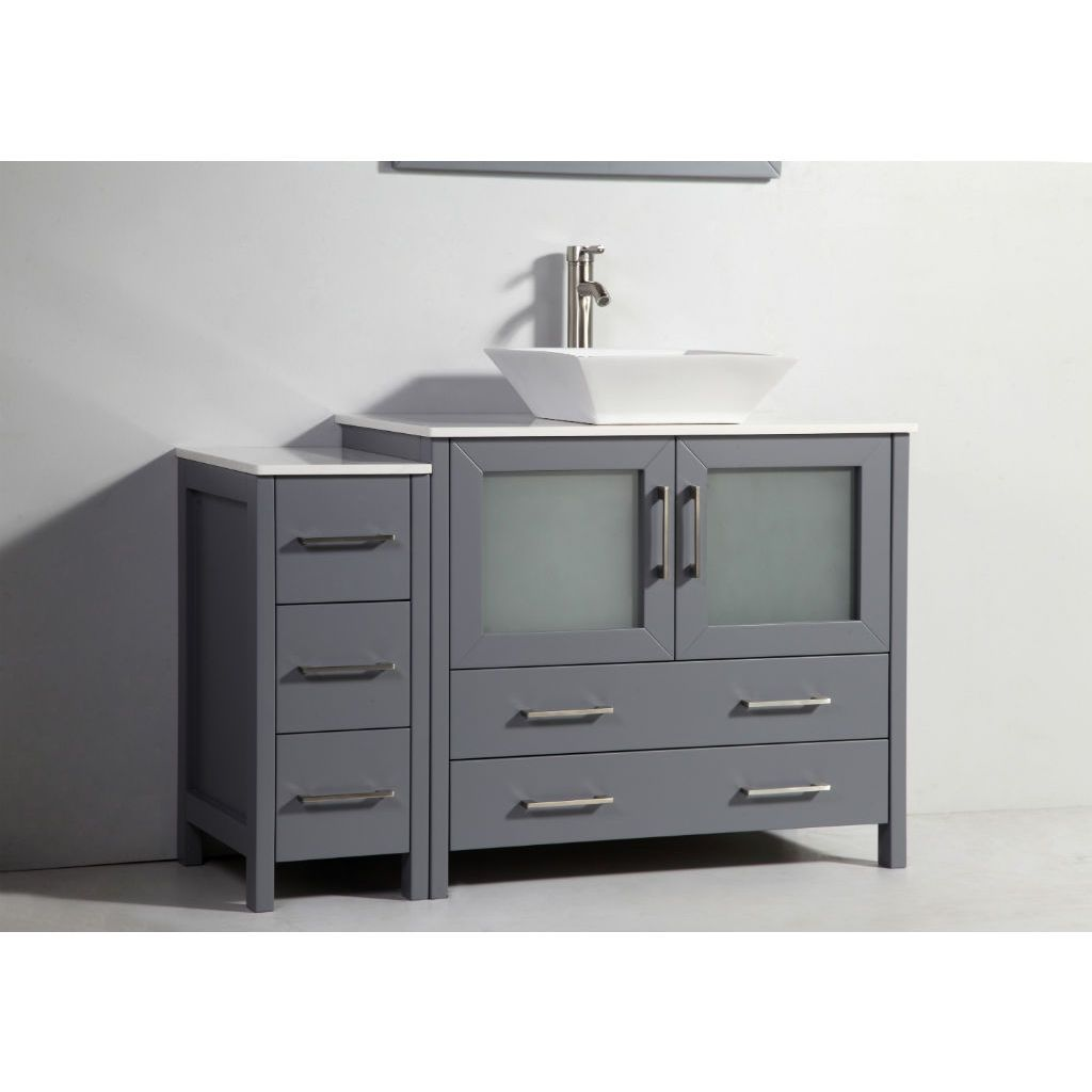 small sink vanity for small bathrooms%0A Legion Furniture Solid Wood Single Sink Vanity with Side Cabinet and  Mirror  Find this Pin and more on Small Bathrooms