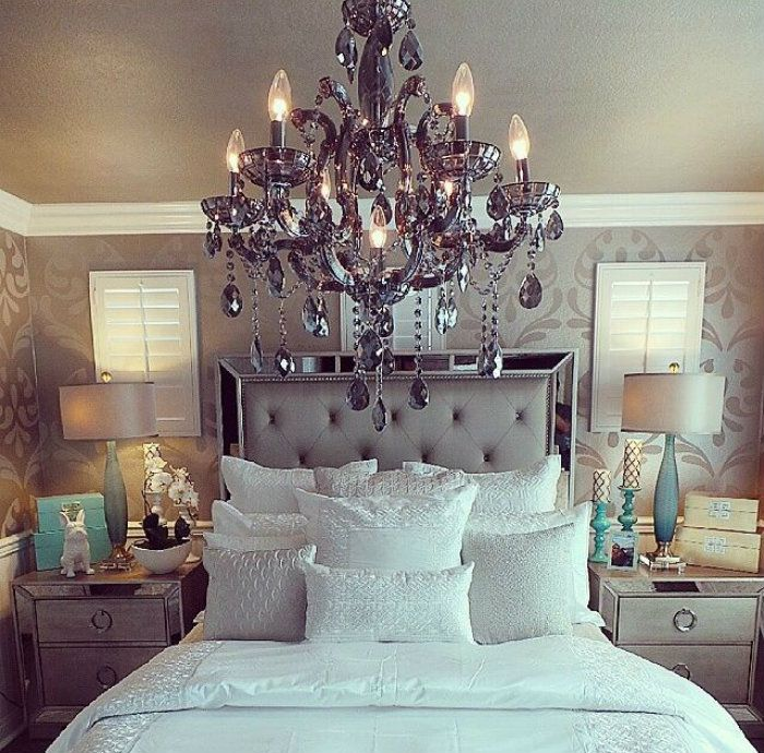 dream master bedroom%0A Love this bedroom set  Enhance your home decor with this elegant Celine  mirrored and upholstered tufted queensize bedroom set  This set features  mirrored