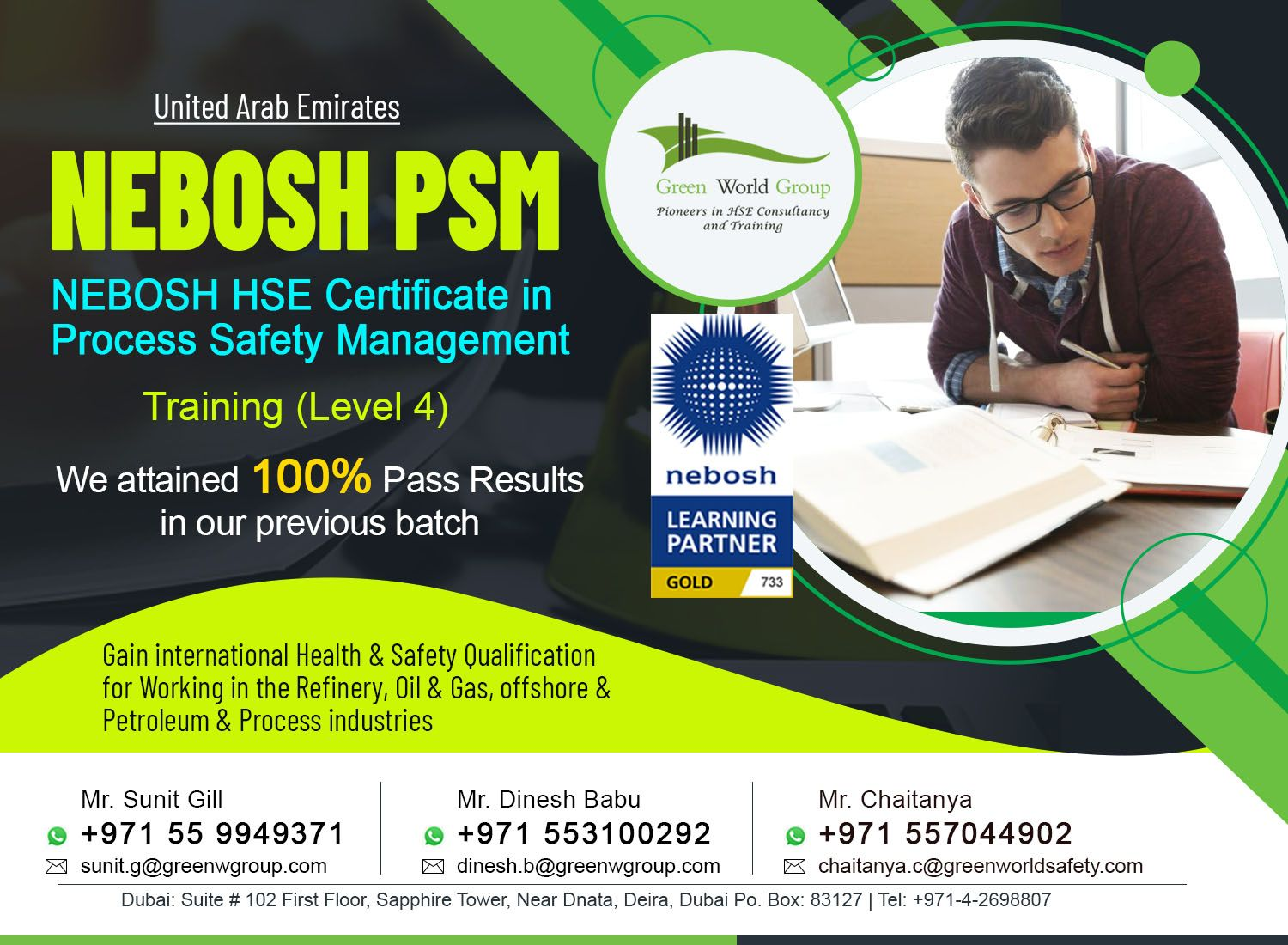 Choosing NEBOSH PSM in UAE is good for Safety Career? in