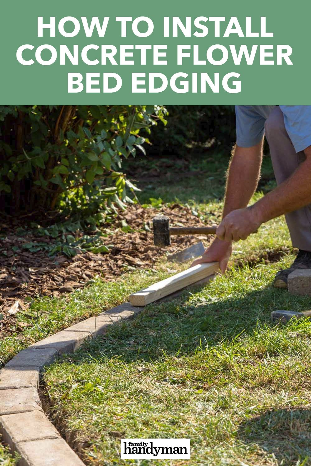 How To Install Concrete Flower Bed Edging Flower Bed Edging Flower Beds Landscaping Tips