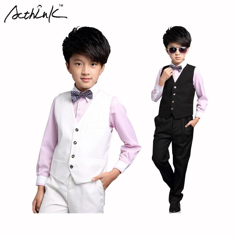 Click to Buy << ActhInK Gentle Boys 3PCS Formal Vest Suit with ...