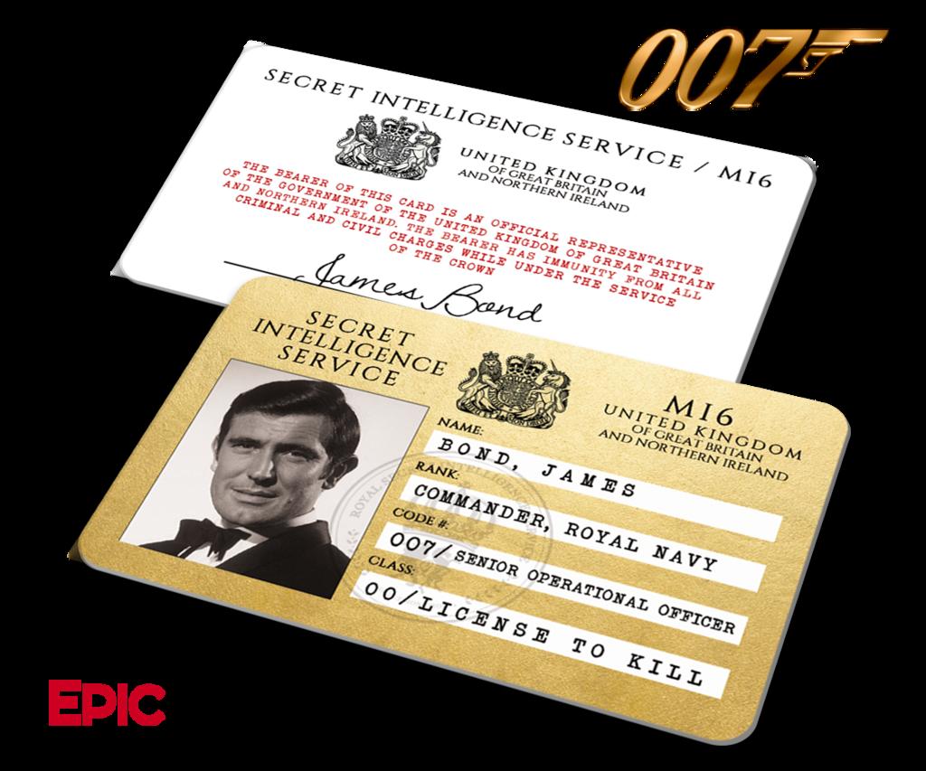 James Bond 007 Inspired George Lazenby Secret Intelligence Service Id James Bond James Bond Theme James Bond Movies