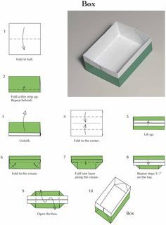 Easy Origami Box Could Use It Paper Clips Odds And Ends Cupcakes Gifts Etc
