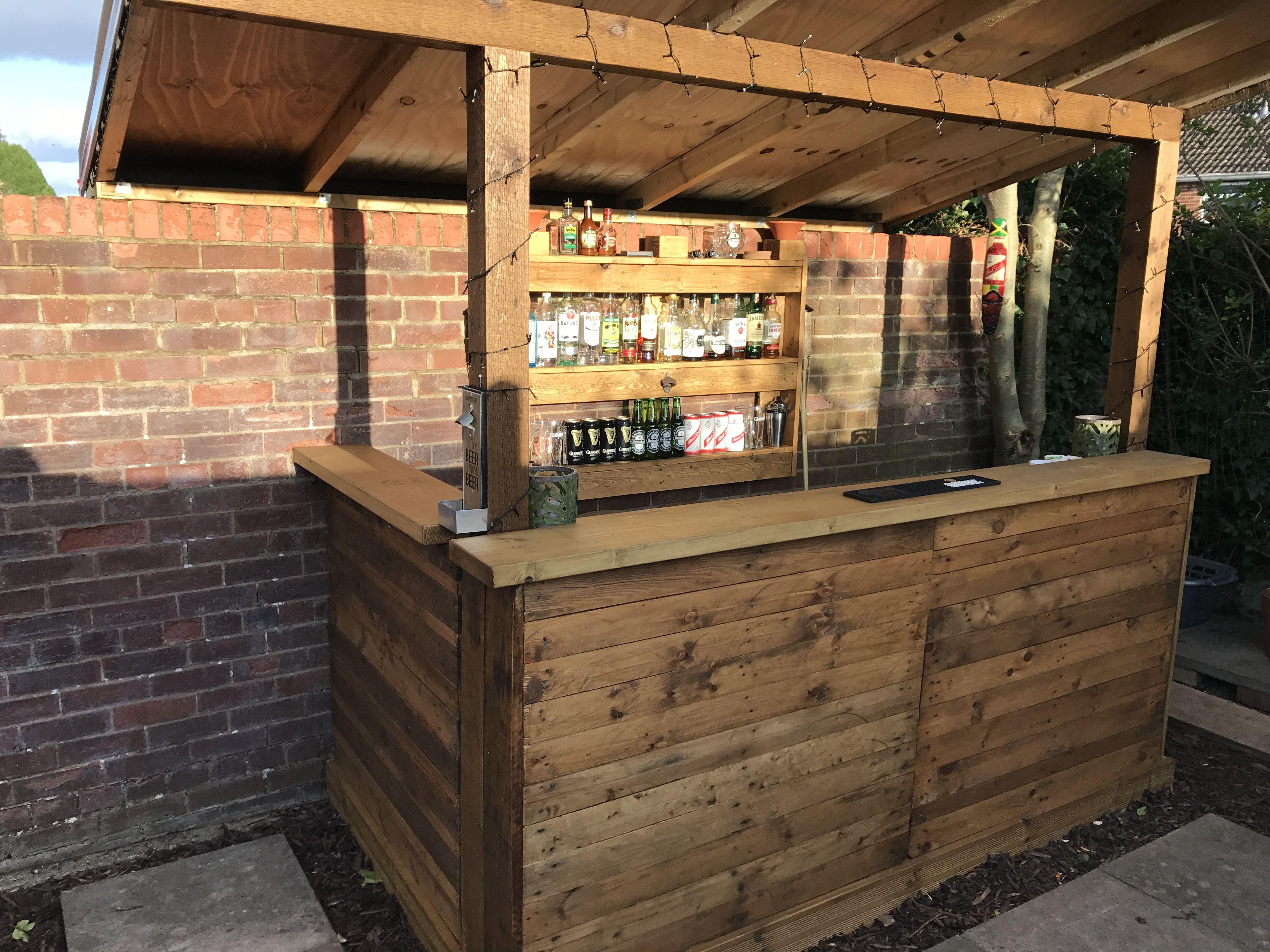 Reclaimed Wood Pallets Outside Garden Bar New Rustic Style Unfinished Outdoor Wood Bar Garden Bar Wooden Garden