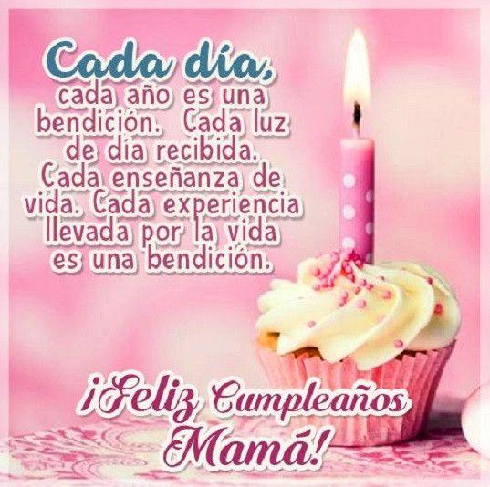 Postales para el cumpleaños de mama con poemas muy lindos para regalar Cumpleaños para Mama