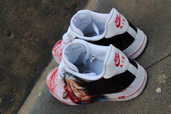 bba8831447 Custom Nike Air Force One CHUCKY handpainted Sneaker Horror | Etsy ...