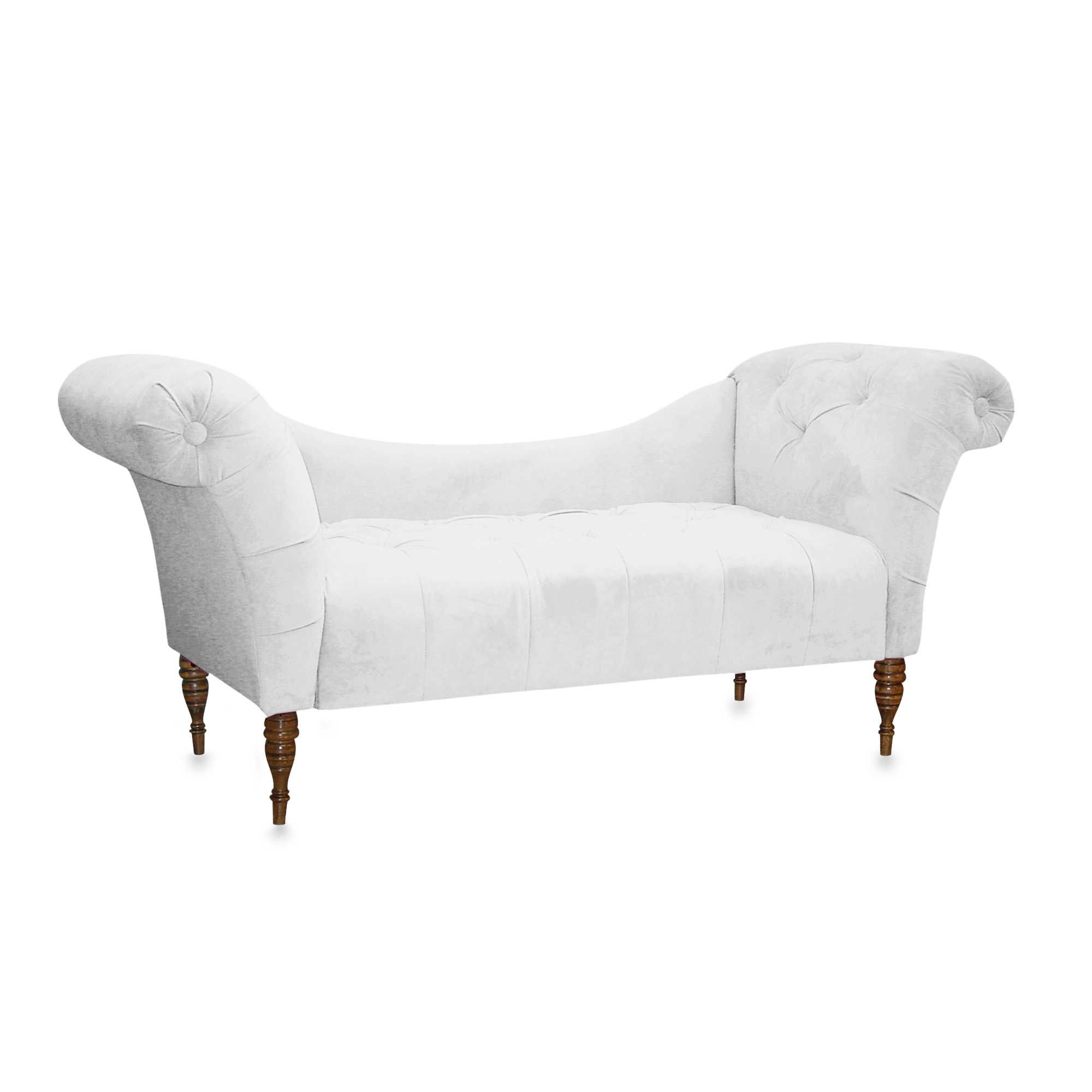Skyline Furniture Tufted Chaise Lounge in Velvet