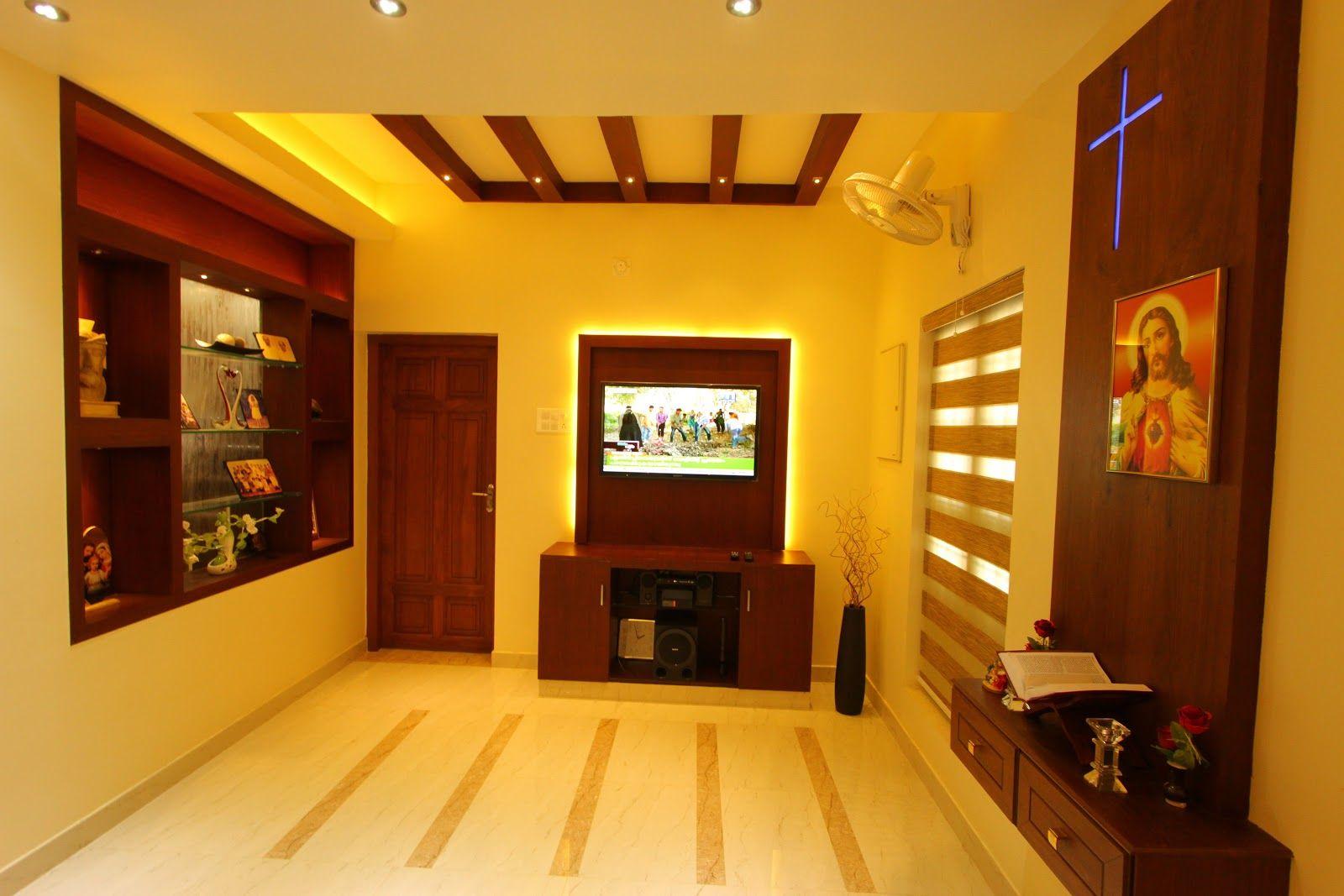Flat Interior Design Kerala House Interior Design Styles Hall Interior Design Home Wall Colour