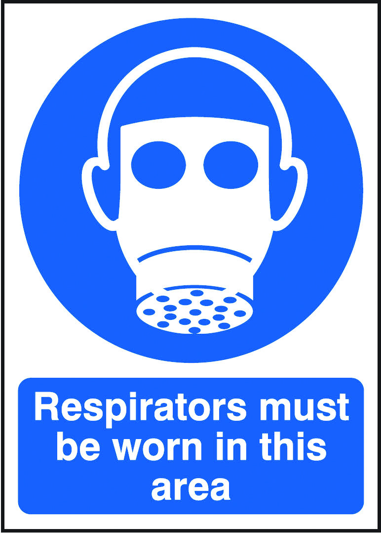 Respirators must be worn in this area sign.  Beaverswood - Identification Solutions