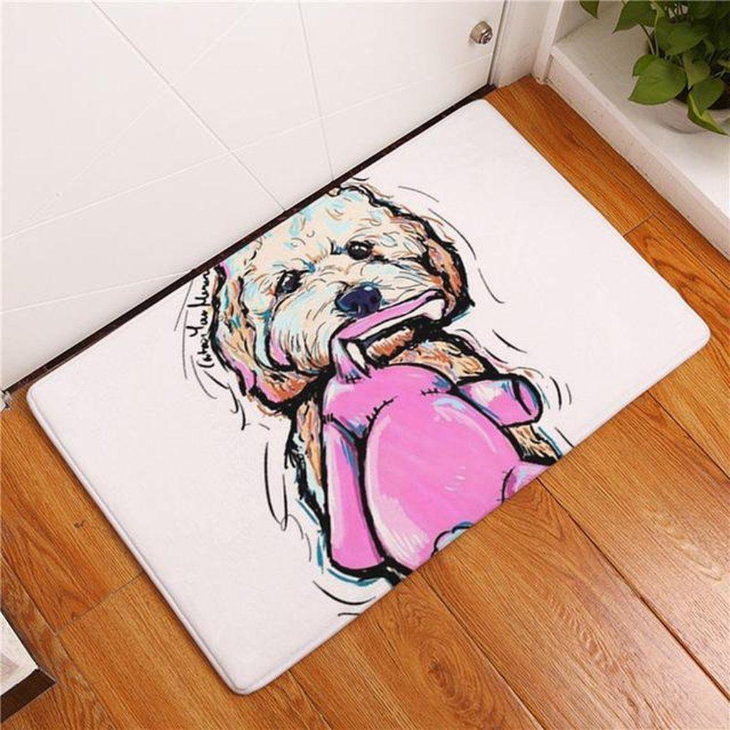 floors high dog with my door products floor greener wiener under felt inc cotton grass mat is dachshund funny