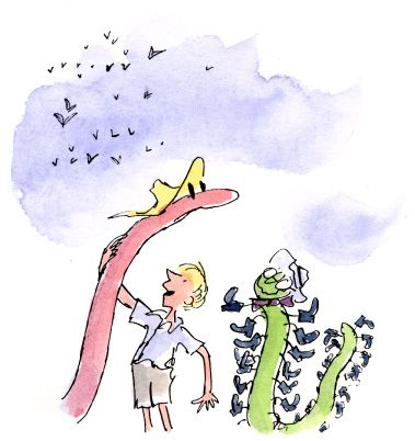James and The Giant Peach. Illustration by Quentin Blake ...