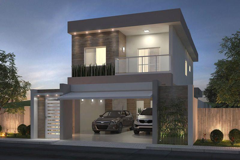 Modelos de fachadas de casas bonitas simples populares for Casa moderna 8