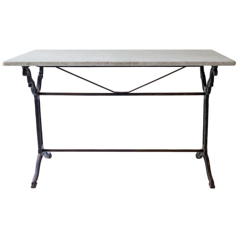 french marble top bistro table with cast iron base home tables rh pinterest com