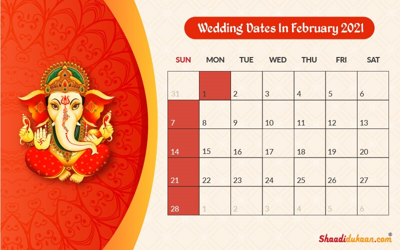 Auspicious Wedding Dates In 2021 See Fix And Plan Your Wedding Plan Your Wedding Wedding Marketing Wedding Planners In Mumbai