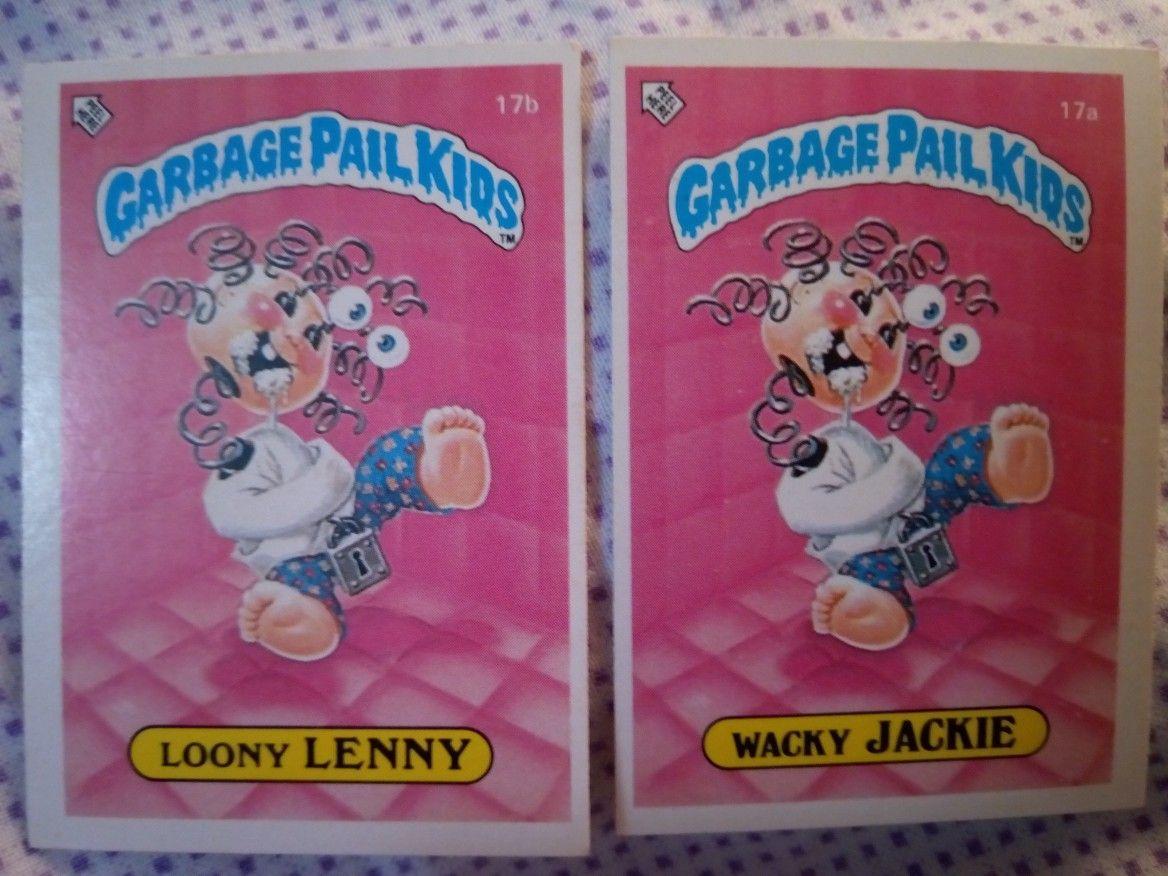 Garbage Pail Kids Cards Series 1 Uk 1985 Garbage Pail Kids Garbage Pail Kids Cards Kids Cards