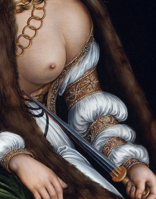 Lucas Cranach the Elder: Lucretia committing Suicide, 1550