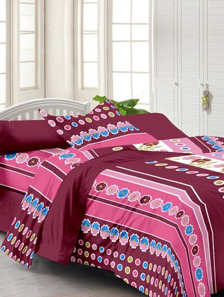 Buy Story @ Home Multi Print Single Bed Sheet Online, , LimeRoad