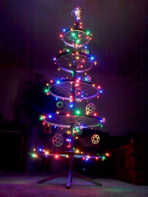 Bicycle Christmas Tree Bicycles Pinterest Bicycling