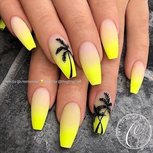 Nail Neon Yellow , Nail Neon - Spring Trends