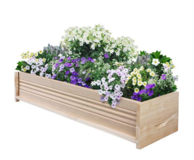 36 in l cedar planter box patio garden flower box rectangular rh pinterest ch