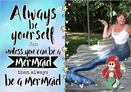 Always Be Birthday Card Be A Mermaid Photo Upload Me Pinterest