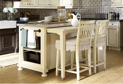 river kitchen island with a slide out table from the paula deen rh pinterest com