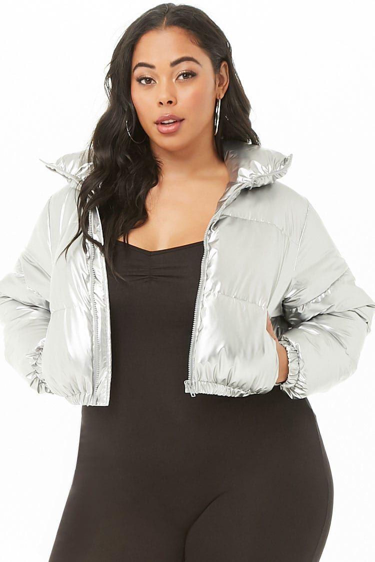 Plus Size Shaci Cropped Puffer Jacket Cropped Puffer Jacket Fashion Plus Size [ 1125 x 750 Pixel ]