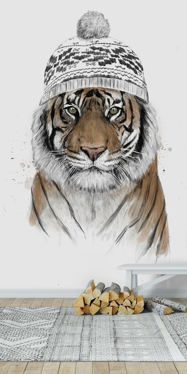 Siberian tiger Wall mural to the jungle